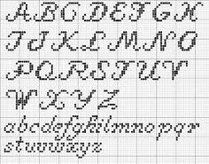 Cross Stitch Patterns cross stitch - cursive alphabet: - Free Sampler Pattern which incorporates some of my favorite motifs. The design is 71 stitches wide by 180 stitches long, and incorporates a quote and some special stitches too. The colors are sim… Alphabet Cursif, Crochet Alphabet, Alphabet Charts, Embroidery Alphabet, Script Alphabet, Alphabet Photos, Cursive Letters, Cross Stitch Letter Patterns, Cross Stitch Letters