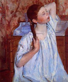 Mary Cassatt (1844-1926) - Girl Arranging Her Hair - 1886 - National Gallery of Art, Washington