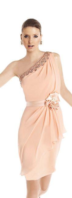 Pronovias 2015 Cocktail Dress Collection | Peach bridesmaid dress