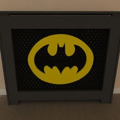 Batman Inspired Themed radiator covers available painted or unpainted - purchase unpainted and let your children help you paint - Add your own personal touch www.bdichildrensfurniture.co.uk