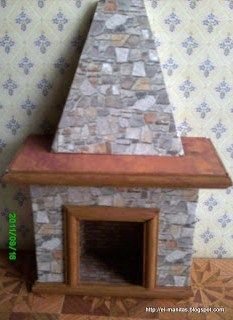 how to: faux stone fireplace