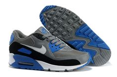 hot sale online 7daf8 b1ab7 Chaud Nike Air Max 90 Essential SGris Blanc Noir Photo Bleu Homme