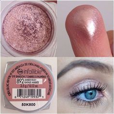 Loreal Infallible Amber Rose....love this eye shadow! The rose gold color, pigmentation, and texture is amazing! Great drug store find!
