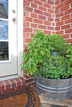 Tiered Herb Garden Idea