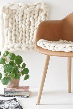 DIY: Chunky Knit Wool Seat Pads   Design Mom   Bloglovin'   More fun DIY projects/hacks/recipes here --> http://gwyl.io/