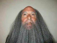 Wizard, wig and beard