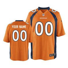 mens nike denver broncos customized limited orange team color nfl jersey free shipping