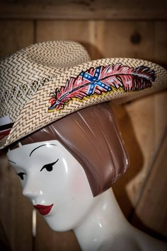 Pistol s And Pearl s Custom Hats - Hand Painted Cowboy cowgirl Hats 7b46364ac384