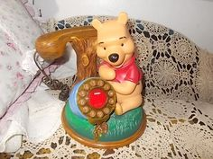 Winnie The Pooh Telephone ,Winnie The Pooh,Telephone, Touch Dial Phone by Daysgonebytreasures on Etsy