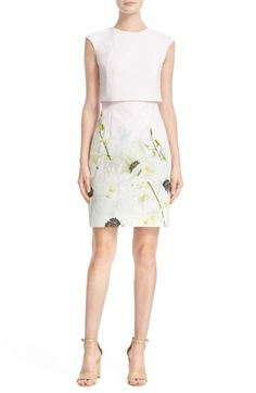 Free shipping and returns on Ted Baker London 'Sneha - Pearly Petals'  Popover Bodice