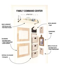 Sources for a simple and organized family command center.