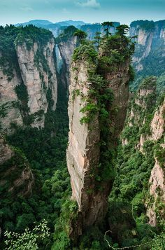 Split Pinnacle , Hunan China - The 100 Most Beautiful and Breathtaking Places in the World in Pictures (part Start dreaming that you will see places like this up and close. Beautiful Places In The World, Beautiful Places To Visit, Wonderful Places, Amazing Places, Places To Travel, Places To See, Travel Destinations, Amazing Destinations, Places Worth Visiting