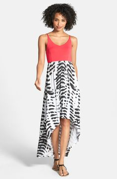 This maxi dress would go great with strappy heels or metallic sandals!