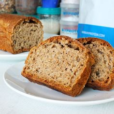Fitness celozrnný chleba z jogurtu - recept Bajola Bread And Pastries, Keto Bread, Bread Recipes, Food Inspiration, Banana Bread, Food And Drink, Yummy Food, Healthy Recipes, Meals