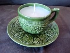 Handmade Teacup Candle by ThriftyNiki on Etsy