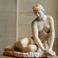 Nymph with a shell.  Louvre Museum