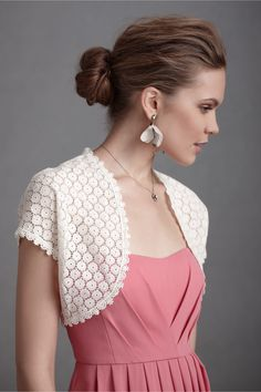 This could be a good coverup for me - Yoked Oxeye Bolero at BHLDN