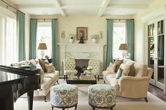Love color combo, cream and light blue