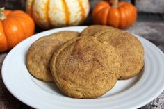 In the Pink and Green: Pumpkin Snickerdoodles. Possible thanksgiving dessert?