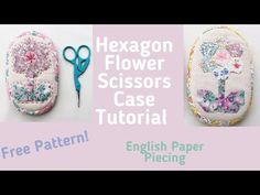 Emma Jones Vintage Sewing Box - YouTube Vintage Sewing Box, Paper Pieced Quilt Patterns, Textiles, Embroidery Scissors, Hexagon Pattern, English Paper Piecing, Hand Sewing, Sewing Patterns, Flower