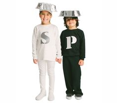Scrambling to whip up a costume at the very last second for your two kids (or even for yourself and a partner)? Luckily, the only ingredients you'll need for this clever combo are outfits in black and white and disposable pans.