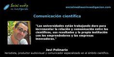 Charla con Javi Polinario sobre comunicación científica. #ComunicaciónCientífica #DivulgaciónCientífica