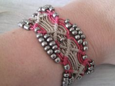 Shell Weave Bracelet-adjustable to fit any size