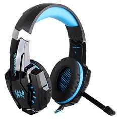 Amazon.co.jp: EasySMX PS4用 ゲーム用ヘッドセット 高音質 マイク付き ステレオ ゲーミング ヘッドホン LED照明 重低音 騒音隔離 音量調節機能付き PC/パソコン/タブレット/スマホ対応 (ブラック+ ブルー): 家電・カメラ