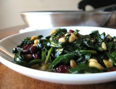 The Bake-Off Flunkie: Hot Spinach Salad with Pine Nuts & Cranberries
