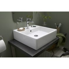 Vasque poser oveo en c ramique x 42 cm salle de bains pinterest ps for Vasque a poser travertin