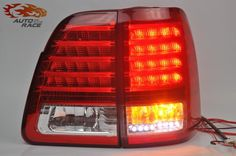 Car Styling tail lights for Toyota Land Cruiser FJ100 1998-2007 LED Tail Lamp rear trunk lamp cover drl+signal+brake+reverse