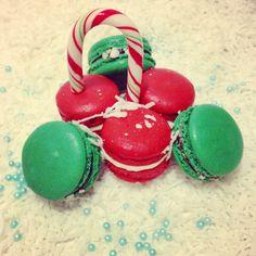 Christmas baking idea, Christmas decoration ideas, French #macarons #xmas