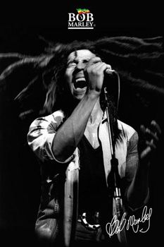 Bob Marley SHOUT! Signature Music Poster - Reggae Singing