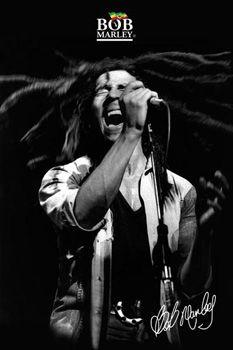 Bob Marley SHOUT! Signature Music Poster - Reggae Singing