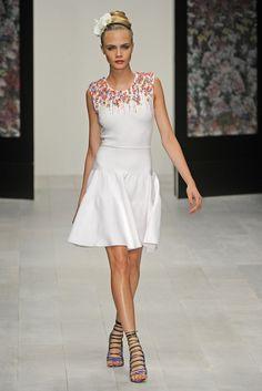 Issa London RTW Spring 2013 - Runway, Fashion Week, Reviews and Slideshows - WWD.com.   Love the hair flower!