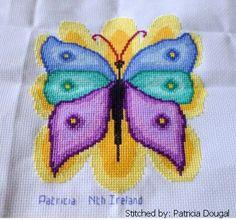 Butterfly - cross stitch pattern designed by Marv Schier. Category: Butterfly.
