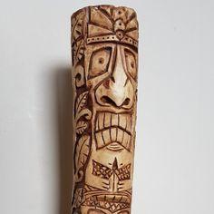 Hand made wood carvings (tree spirits, tiki, totem) by TheKnottyCarvershop