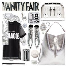 """MIRROR VANITY"" by pastelneon ❤ liked on Polyvore featuring Monki, Maison Margiela, Danese, Cuisinart, Yves Saint Laurent, Chicnova Fashion, Lene Bjerre, Vanity Fair, Balenciaga and Byredo"