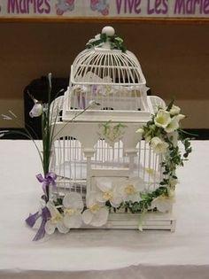 cage oiseau mariage ivoire rose idee deco table centre. Black Bedroom Furniture Sets. Home Design Ideas