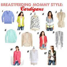The Heathered Life: Breastfeeding Mommy Style: Cardigans