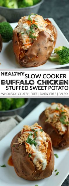 Slow Cooker Buffalo Chicken - The Real Food Dietitians