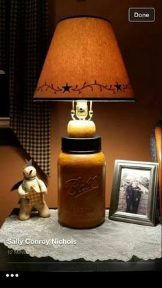 Ball jar lamp..