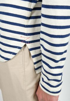 Junya Watanabe Man Striped Cotton Crewneck