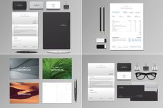 Silverpeak Stationery Set & Invoice by Andre28 on Creative Market