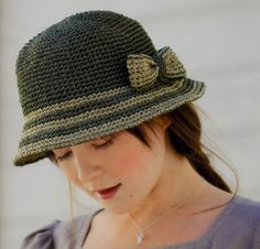 PATRONES GRATIS DE CROCHET: Lindo gorro a crochet con dos colores