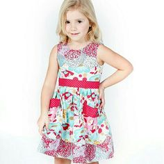 Red And Blue Kortori Lauri Dress Check out #jellythepug dresses @ #thelittlelollipops  Ready Stock available in Singapore  Visit us @ www.thelittlelollipops.com