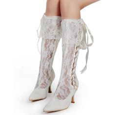 MB-081 Superb Lace Bridal Wedding Shoes Party Boots