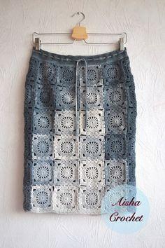 Fabulous Crochet a Little Black Crochet Dress Ideas. Georgeous Crochet a Little Black Crochet Dress Ideas. Crochet Bodycon Dresses, Black Crochet Dress, Crochet Skirts, Knit Skirt, Crochet Cardigan, Crochet Clothes, Lace Skirt, Crochet Skirt Pattern, Crochet Squares