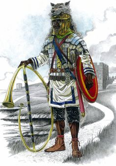 Legionario africane con cornicen, c.170 d.C.
