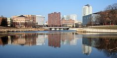 Minnesota - Downtown Rochester reflected in the Zumbro River (Others may post a pic of the Twin Cities.  But, hey, my sis lives in the land of the Mayo)
